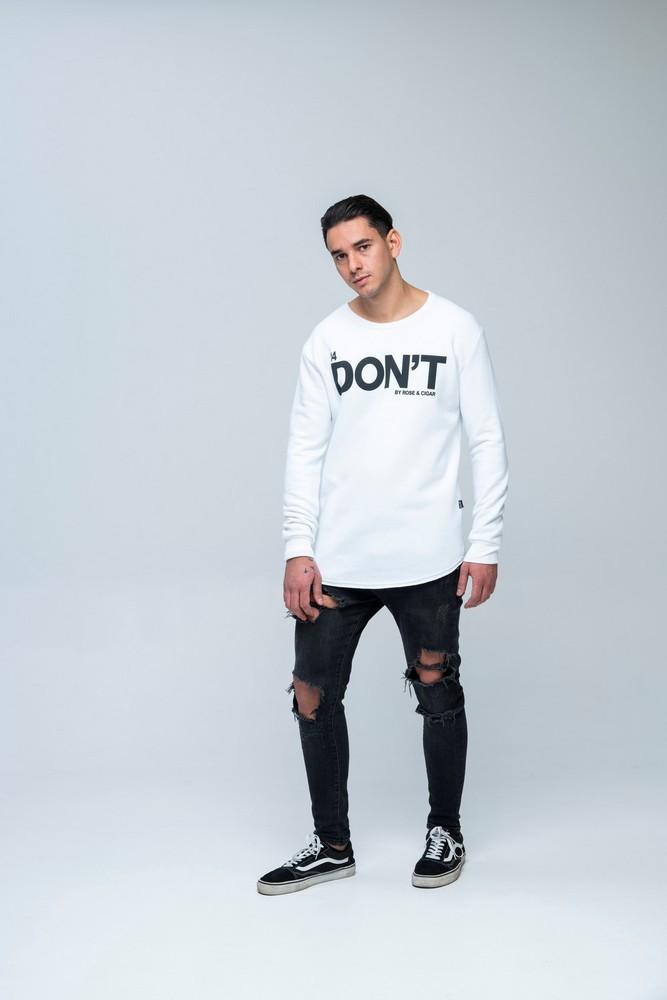 DON'T LS Sweat White
