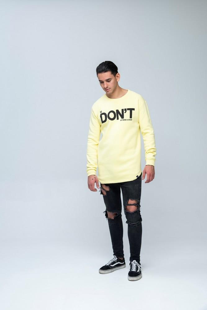 DON'T LS Sweat Yellow