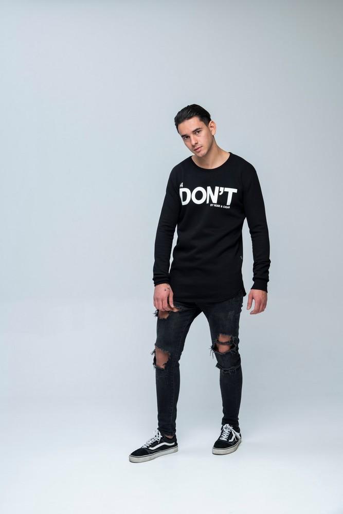 DON'T LS Sweat Black