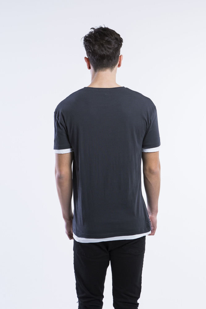 DOUBLE LAYER REAL CUT TEE