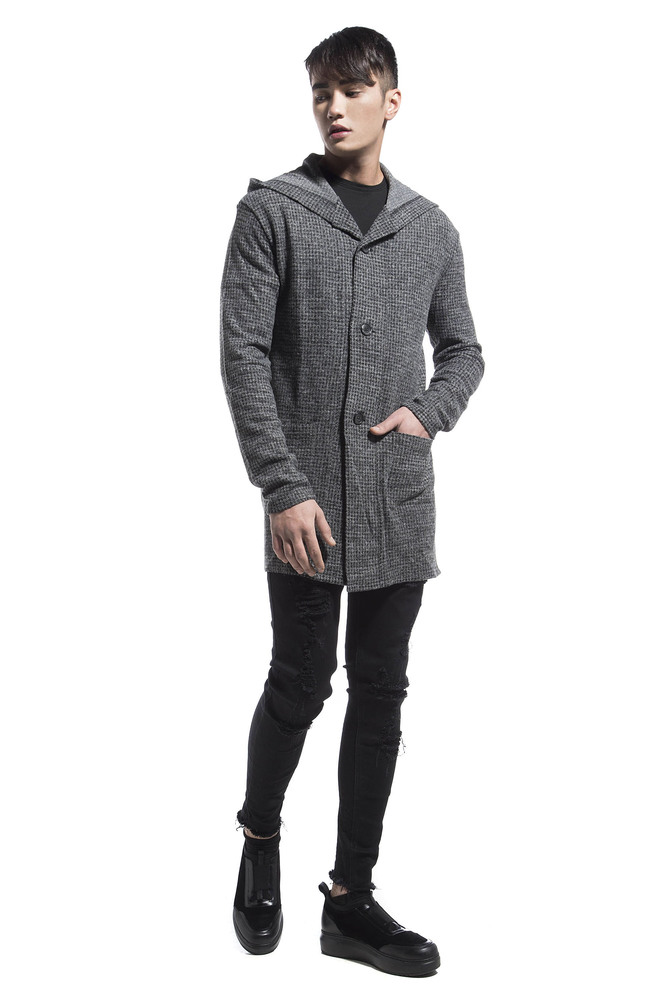 COAT CARDIGAN GREY