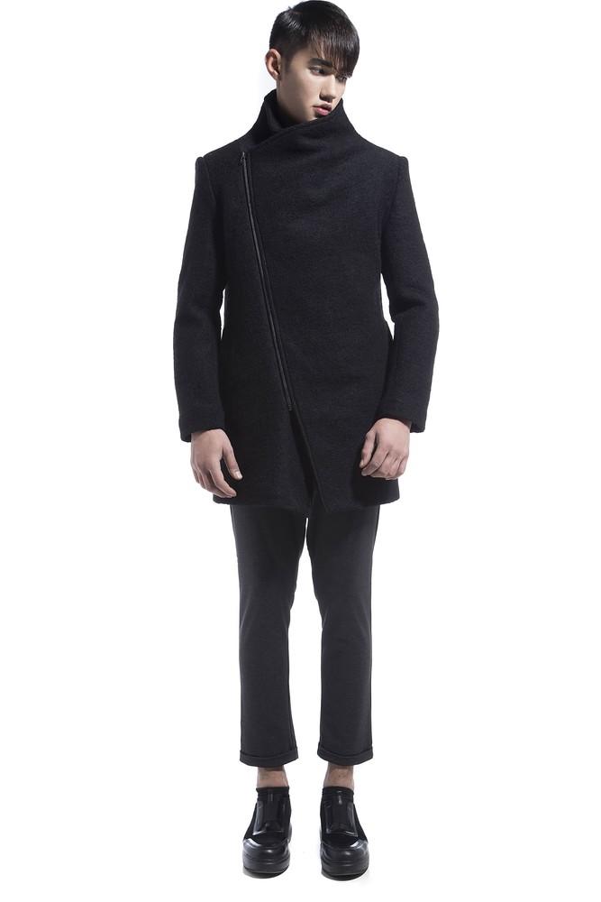 ZIPPER COAT BLACK