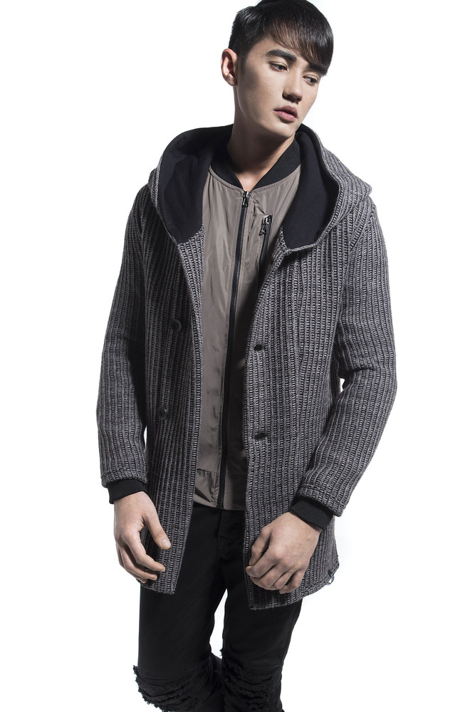 KNITED LONG CARDIGAN FANGO
