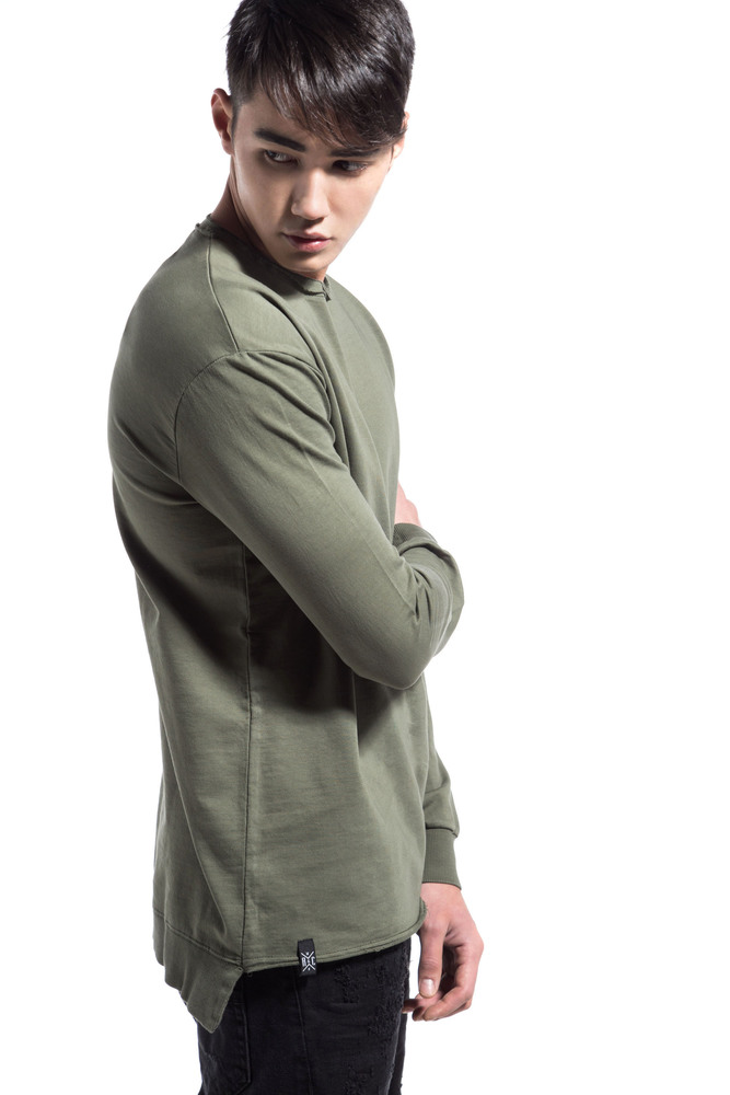 CUTTED RIP SWEATSHIRT KHAKI