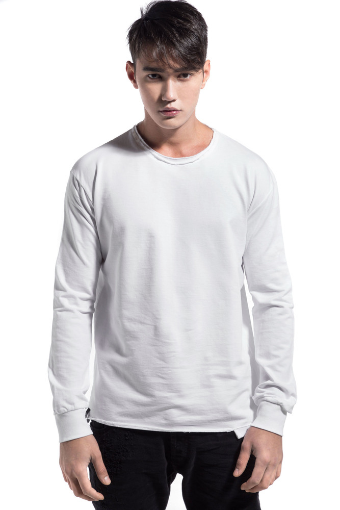 CUTTED RIP SWEATSHIRT WHITE