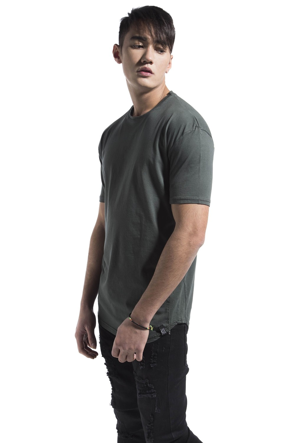 SIDE PERFORATED TEE KHAKI
