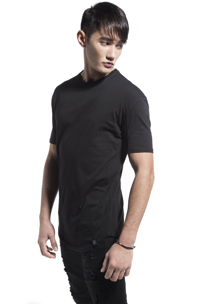SIDE PERFORATED TEE BLACK