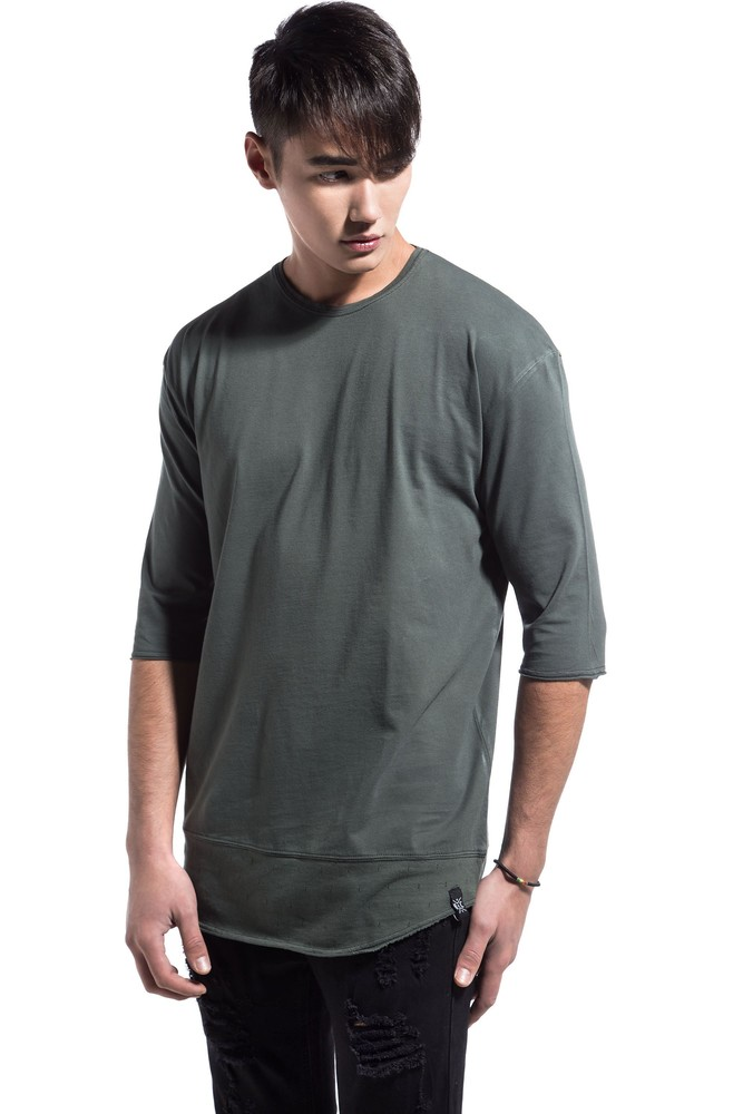 DOWN PERFORATED TEE KHAKI