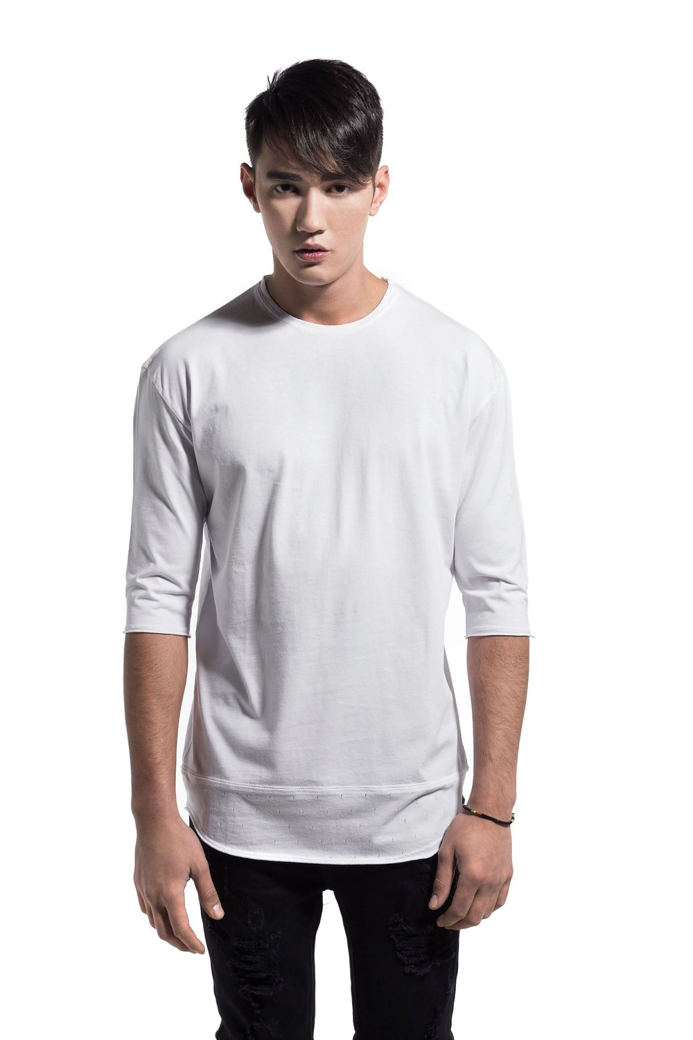 DOWN PERFORATED TEE WHITE