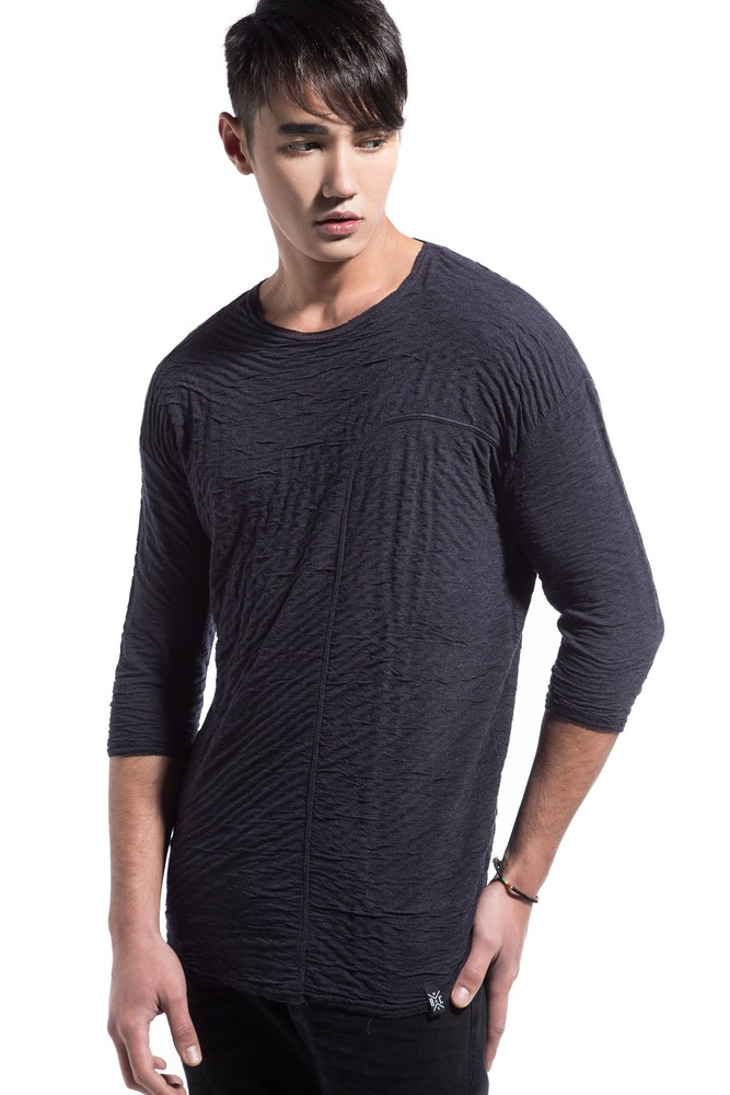 DOUBLE VISCOSE TEE BLUE