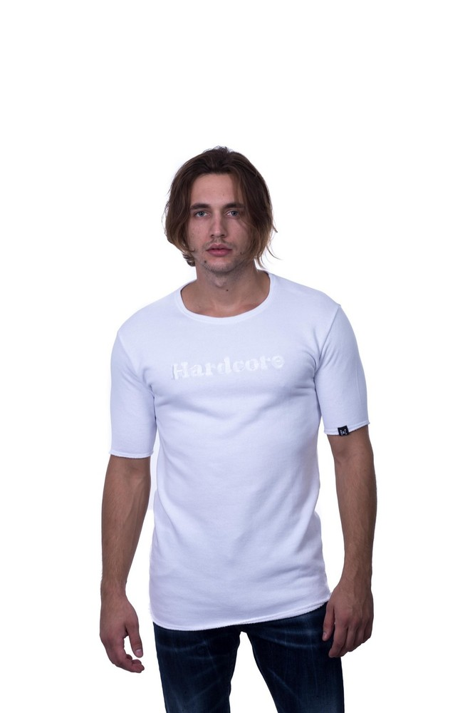 HARDCORE SS SWEAT WHITE