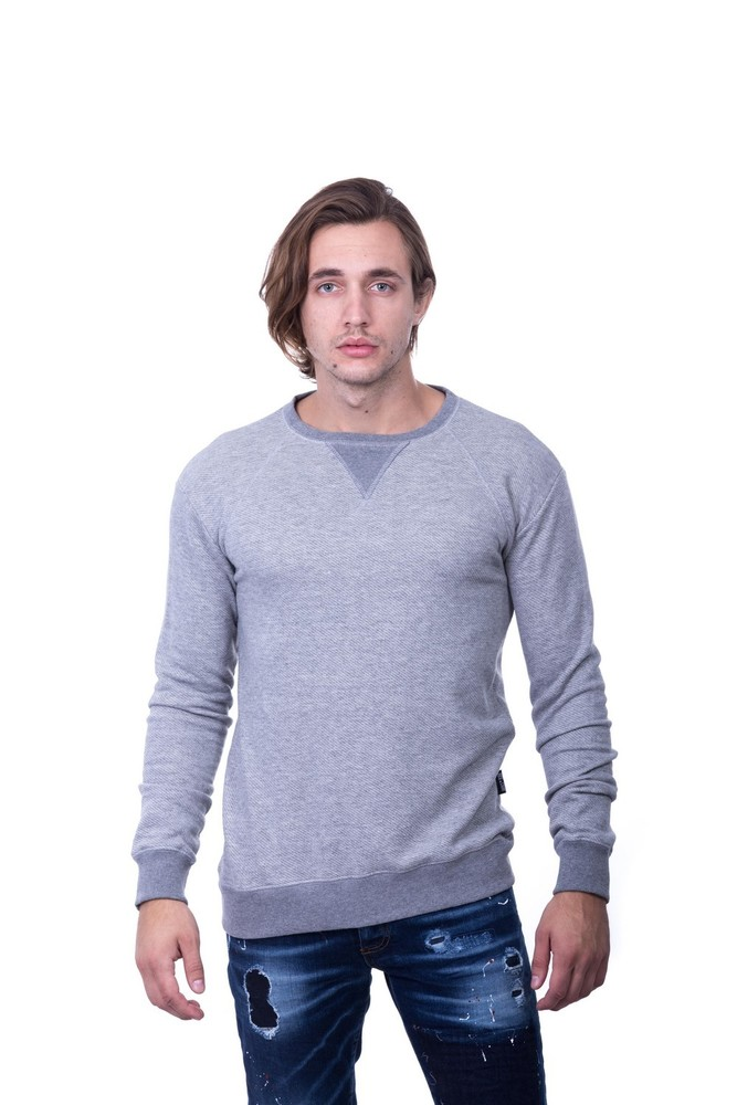 TRICOT DIAGONAL LS SWEAT GREY