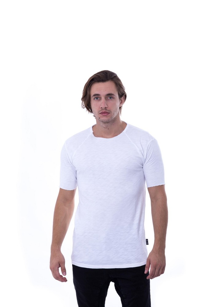 REGLAN FISH SLUB SWEAT WHITE
