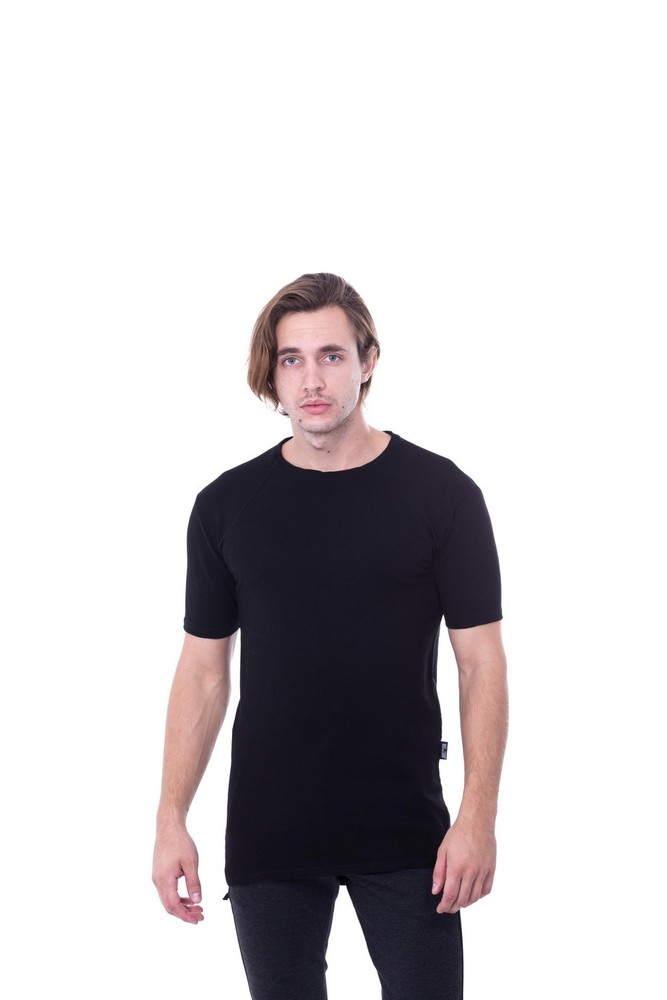 REGLAN SLUB SWEAT BLACK