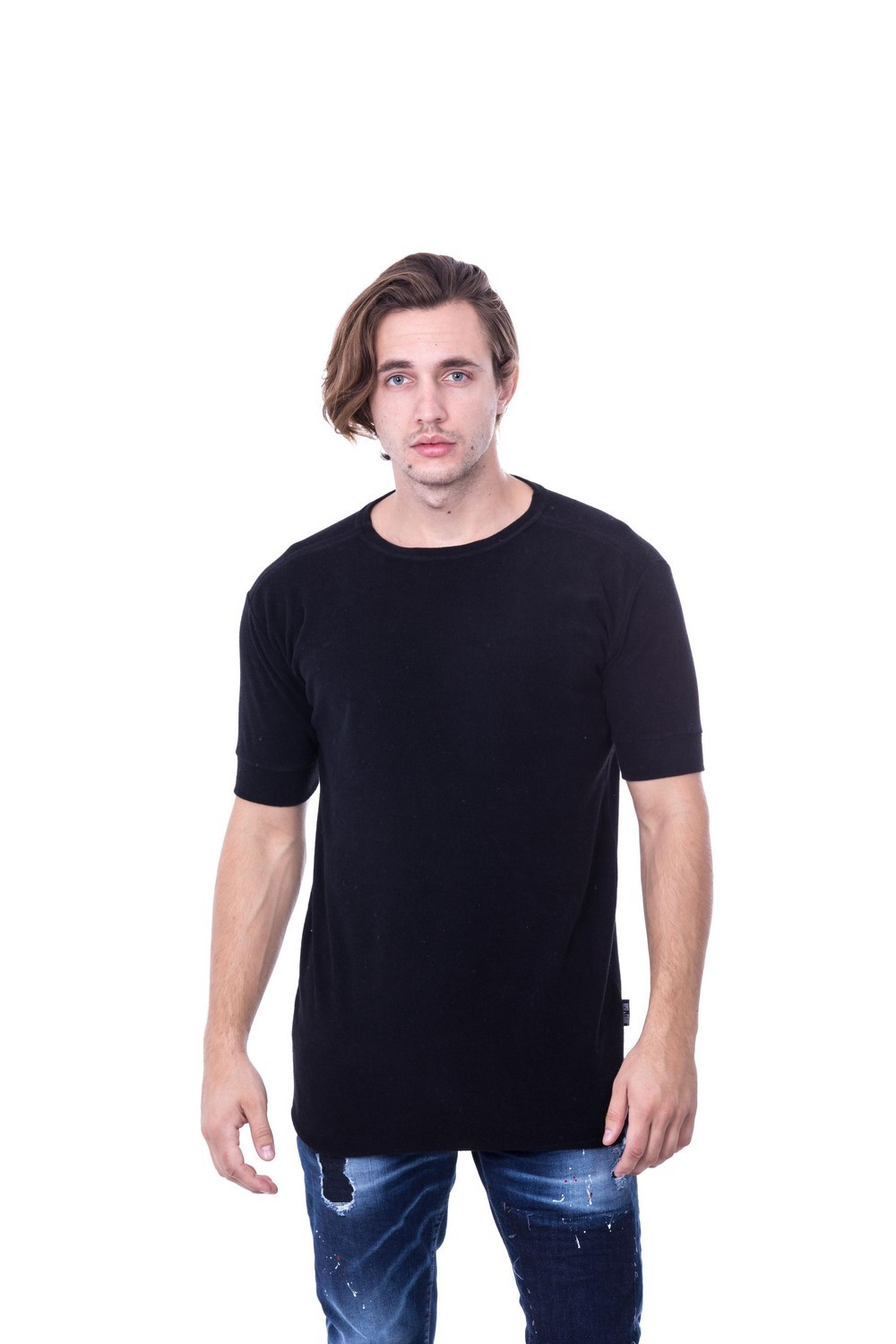 COTTON TOWEL TEE BLACK