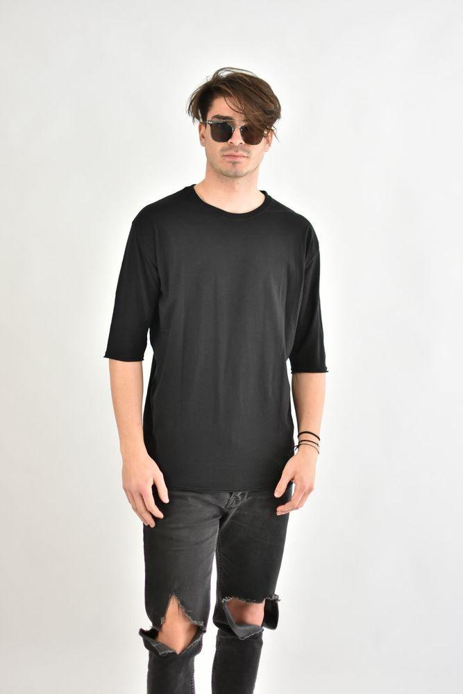 SLUB 3/4 TEE BLACK