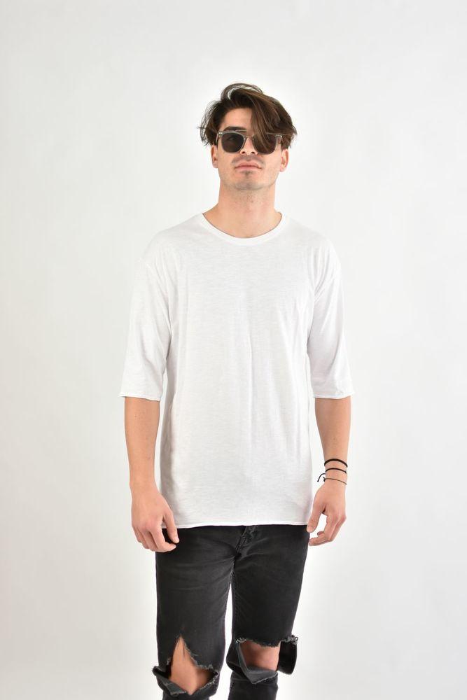 SLUB 3/4 TEE WHITE
