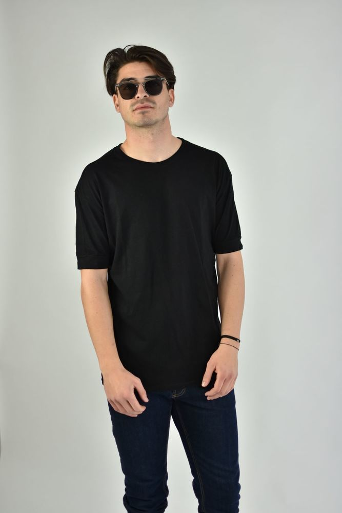 SLUB BASIC TEE BLACK