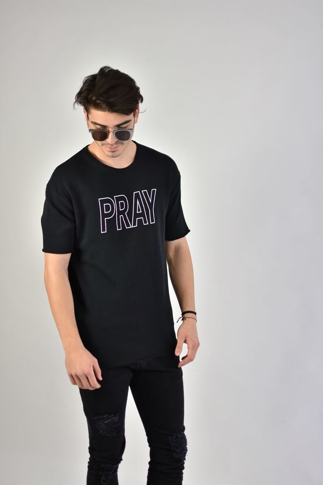 "SS SWEAT ""PRAY"" BLACK"