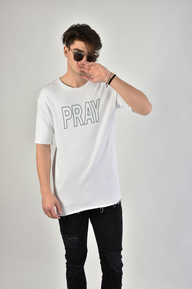 "SS SWEAT ""PRAY"" WHITE"