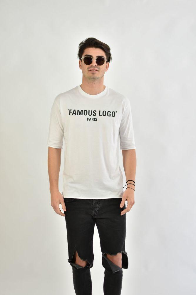 FAMOUS LOGO TEE WHITE