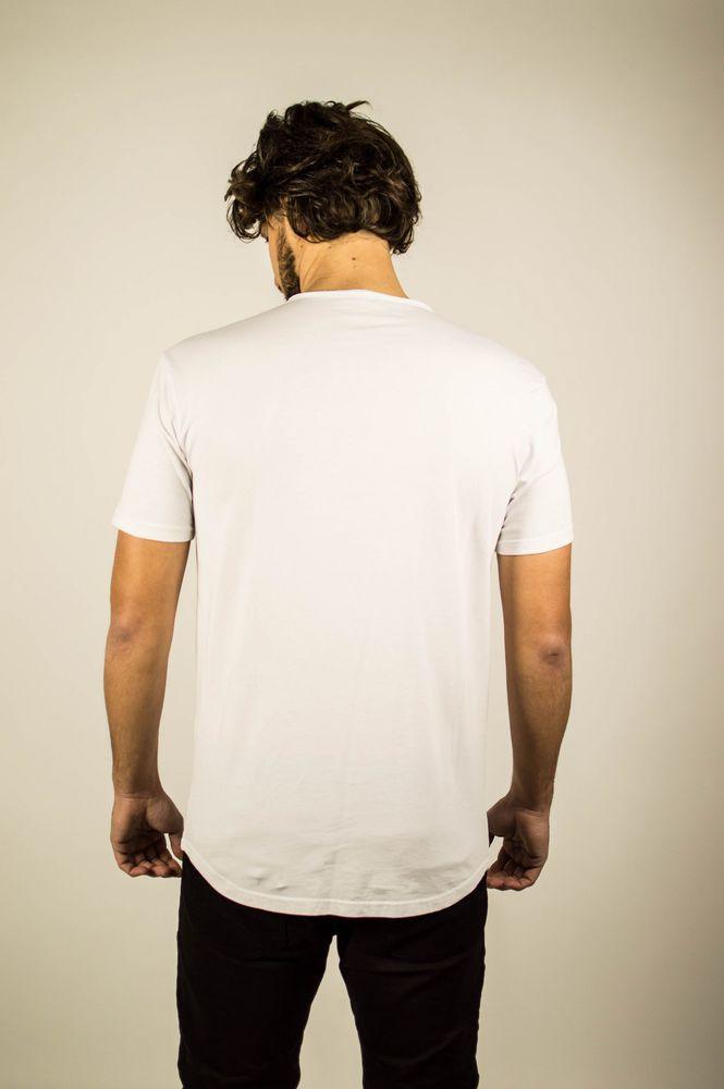 PERFORE LINE TEE WHITE
