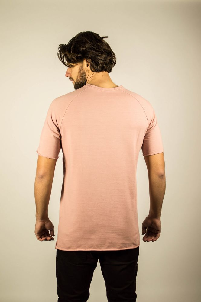 REAL CUT REGLAN SS SWEATSHIRT PINK