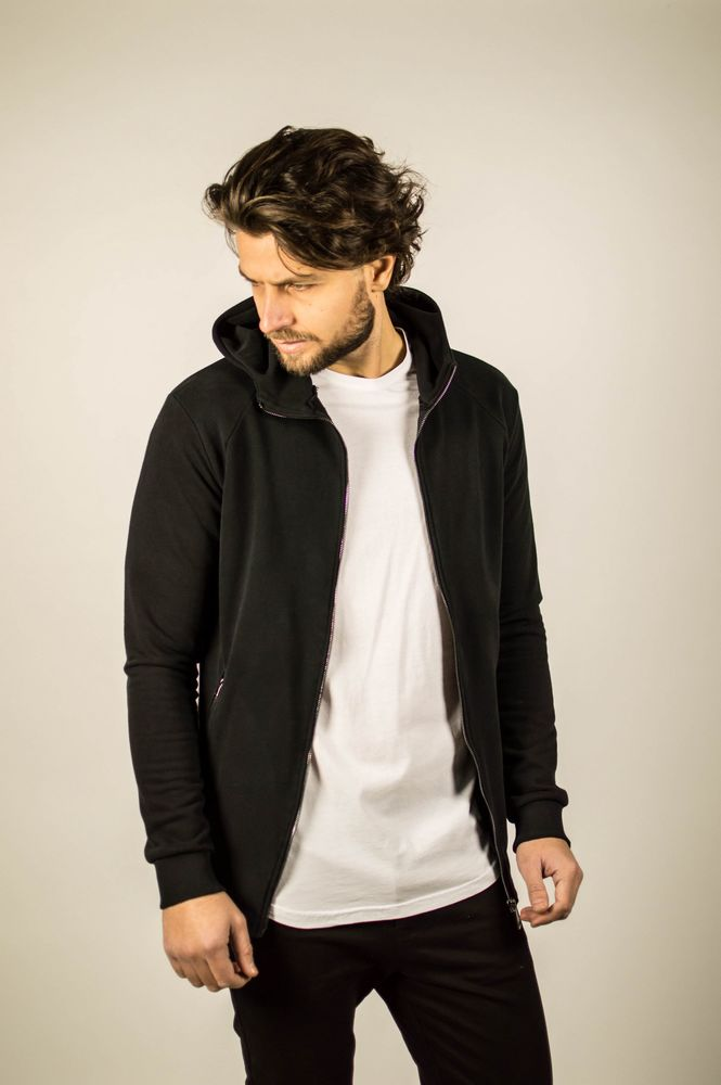 CARDIGAN ZIP UP BLACK