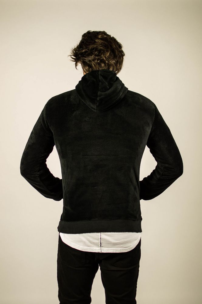 FLEECE ZIP HOODIE BLACK